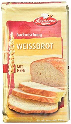 Küchenmeister Brotbackmischung Weissbrot, 15er Pack...