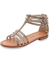 Geox Neu Sandalen Schwarz Schuhe Damen