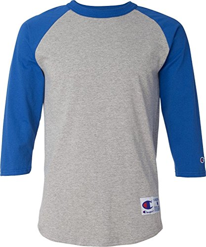 Champion Raglan Baseball T-Shirt Classic Jersey Assorted L -