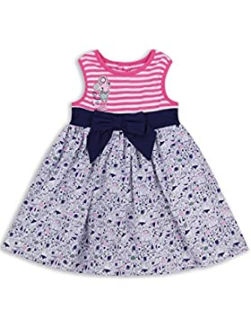 The Essential One - Bebé Infantil Niñas Vestido - Blanco/Rosa/Azul de Mar - EOT328