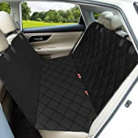 Dog Car Seat Cover, OMorc Waterproof & Scratch Proof & Nonslip Back Seat Cover, Dog Travel Hammock with Seat Anchors, Perfect for Cars, Trucks, and SUVs, Machine Washable Car Seat Protector for Pets - Black