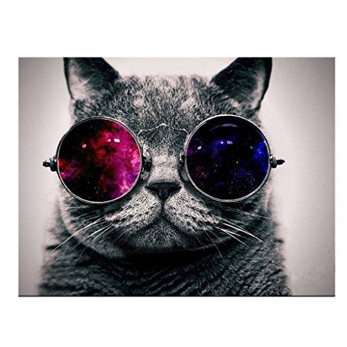 Decoración de Pared Lienzo HD Pintura de Arte Noframe Adornado Foto-gato Impresión de Animal - 50x50cm