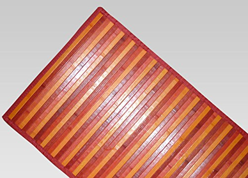 BIANCHERIAWEB Tappeto Bamboo Degradè 55x290 cm Rosso