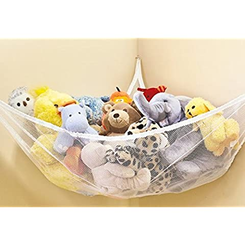 Large Hammock For Soft Toy Teddy Keep Baby/Children's Bedroom Tidy Mesh Storage Ideal For Nursery Play Corner Hammock by E-Bargains