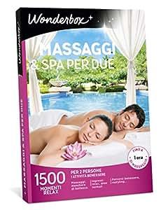 WONDERBOX Cofanetto Regalo - Massaggi & Spa per Due - 1500 MOMENTI ...