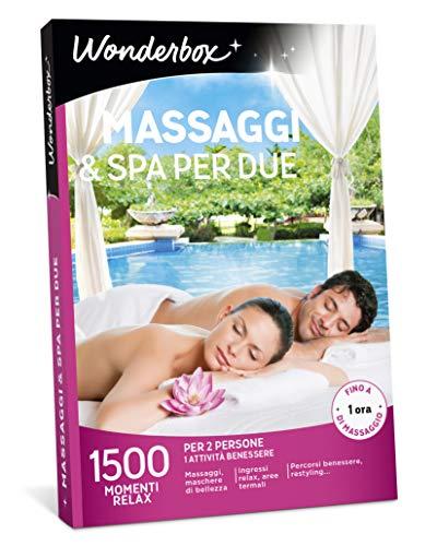 Wonderbox Cofanetto Regalo per lei - Massaggi & Spa per Due - 1500 MOMENTI Relax per 2 Persone