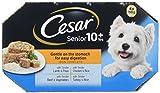 Cesar Senior 10+  - Comida para perros suave en el estómago para facilitar la digestión, 4 x 150 g, paquete de 4