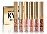 rossetto opaco simile a Kylie Jenner Birthday kit (mini set) 100% originale (6 x 0.02 FL oz/oz Liq/0.65 ml) Koko K, dolce K, Candy K, Kristen, Leo immagine