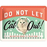 Nostalgic-Art 26189 Animal Club - Do Not Let The Cat Out, Blechschild 15x20 cm