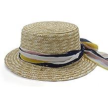 Sunny Baby Raffia Sombrero de Paja de Paja Sombrero de Copa Fedora de ala  Ancha Fedora Bowler ee1f4dadf56