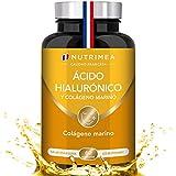 Colageno, Acido Hialuronico Capsulas, Vitamina A, Piel Huesos Articulaciones, Antiedad Reduce Arrugas Líneas de Expresión Hidratación, Reforzar Defensas, 60 Capsulas Vegetales, Fabricado en Francia