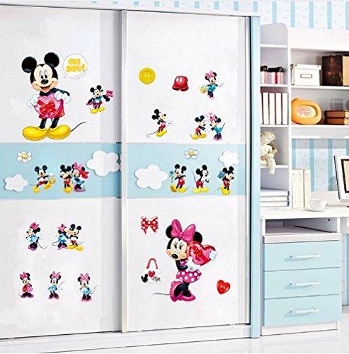 Adesivi Murali Minnie E Topolino.Cartoon Kids Adesivi Da Parete Minnie E Topolino Adesivi Per Camera Neonati E Bambini Decorazione Cartone Animato