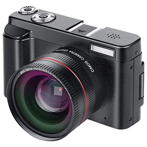 WOB Digitalkamera,3-Zoll-Vollbildmodus | Digitalkamera- und Videofunktion | Integriertes Wi-Fi | HDMI-Steckplatz | Weißabgleich | Zeitgesteuerte Aufnahme (Selbstauslöser) Camcorder Mit Teleobjektiv