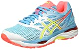 Asics Damen Gel-Cumulus 18 Laufschuhe, Weiß (White/Safety Yellow/Blue Atoll), 35.5