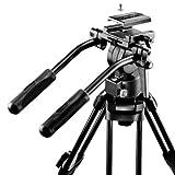 Walimex Pro EI-9901 Video-Pro-Stativ (max. Höhe 138 cm, Videoneiger, Mittelspinne, Belastbarkeit 6 kg und Stativtasche) - 3