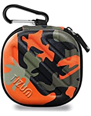 Tizum Tm-Epc-112-Org Earphone Carrying Case (Camouflage Orange)