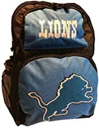 Nfl Detroit Lions Backpack Large School Bag Sports Water Bottle By Concept One