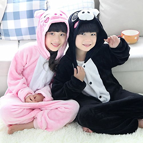 annel Animal Novelty Costumes Cosplay Pajamas Role-Playing Halloween Play Clothes,Pink Pig,L (Tier Kostüme Für Tweens)