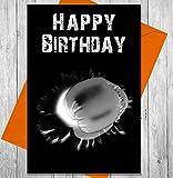 Carte d'anniversaire de boxe Punch–Effet Tableau noir Unique carte de vœux