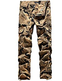 SSLR Pantalons Cargo Coton Style Militaire Armée pour Homme