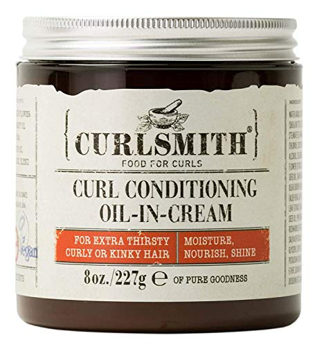 Curlsmith Curl Conditioning Oil in Creme - Natürlicher Conditioner für lockiges und glattes Haar (227g)