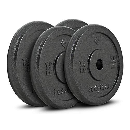 Bodymax Standard Hammertone Weight Disc Plates - 4 x 7.5kg