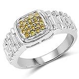 Ring Sterling-Silber 925 0,25 Karat Diamant Gelb
