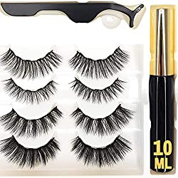 Reddington® 4er Set Magnet Wimpern - 10Ml Magnetischer Eyeliner - Künstliche Magnet Wimpern - Falsche Wimpern Magnetisch