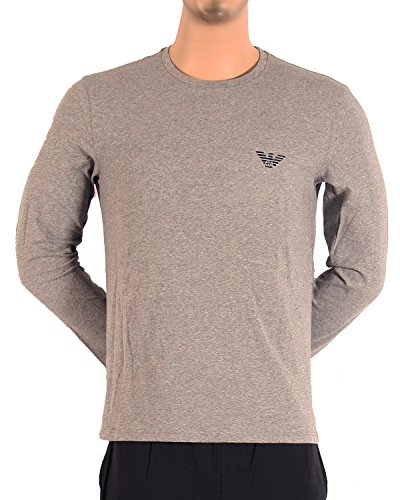 Emporio Armani Flash Crew Neck Sweater Longsleeve Langarm Shirt Rundhals Dark Grey Melange (06749)
