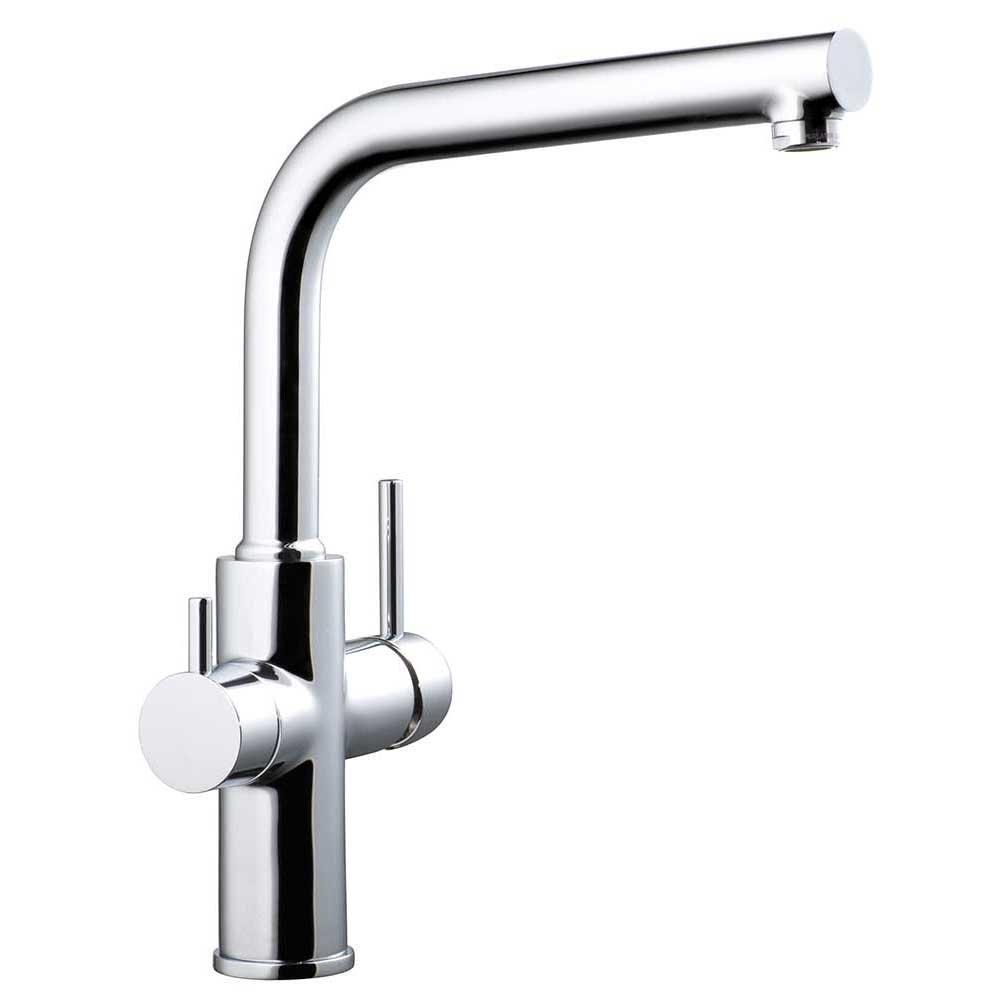 Clever 99684 Grifo de Cocina Monomando Agua Tratada Caiman Econature, Acabado cromo