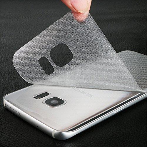 Distinct® 3pcs Carbon-Faser-rückseitiger Schutz-Film für Samsung-Galaxie S8 Plus -