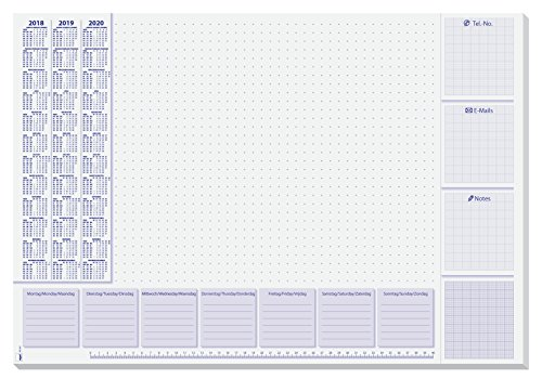 Sigel HO355 Papier-Schreibunterlage mit 3-Jahres-Kalender und Wochenplan, 59,5 x 41 cm , 30 Blatt - weitere Designs (Papier-kalender 2015)