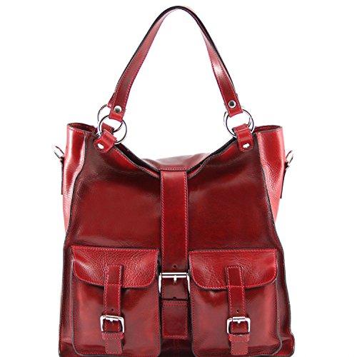 Tuscany Leather Melissa Borsa donna in pelle Testa di Moro Rosso