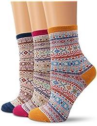 Mode Coton chaussettes, Chaussettes Bohemia Moliker Vintage Style Warm Wool chaussettes