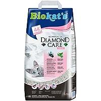 Biokats Diamond Care Fresh Katzenstreu – Hochwertige Klumpstreu für Katzen mit Aktivkohle und Aloe Vera – 1 Papierbeutel à 8 L