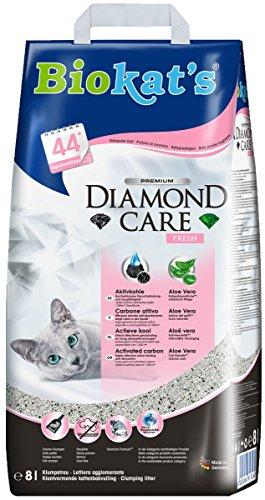 e Fresh Katzenstreu / Hochwertige Klumpstreu für Katzen mit Aktivkohle und Aloe Vera / 1 Papierbeutel à 8 L (Parfums Caros)