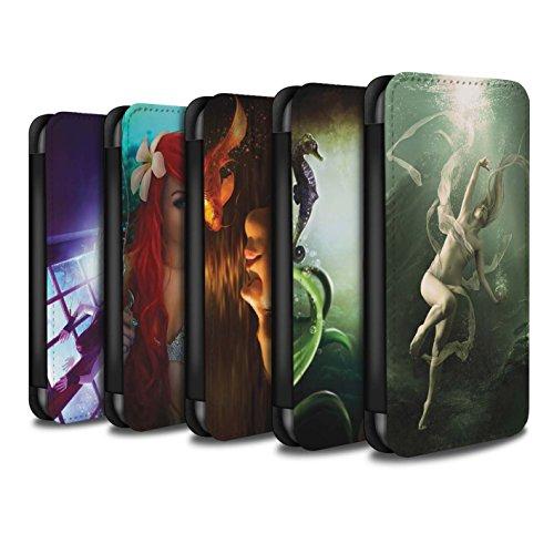 Officiel Elena Dudina Coque/Etui/Housse Cuir PU Case/Cover pour Apple iPhone 6S / Laisse Moi Entrer Design / Agua de Vida Collection Pack 7pcs