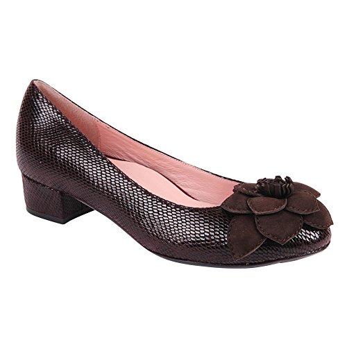 Taryn Rose Farak Cuir Chaussure Plate Deep Brown