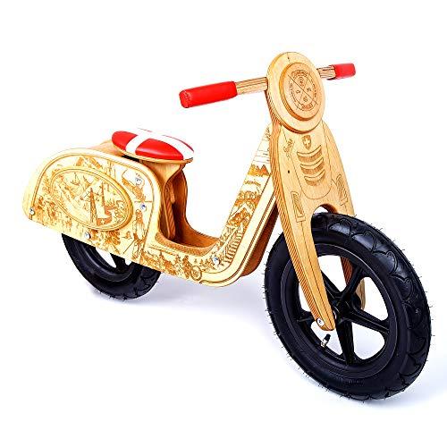Kinder Holz Laufrad Exklusiv Vespa Lauflernrad Balance Bike  2 3 4 5 jahre - Swiss