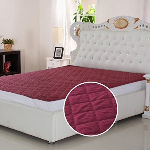 Signature Micro 120 TC Waterproof and Dust Proof Double Bed Mattress Protector (72X78-inch, Maroon) Image 2