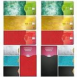FreeHaveFun Rfid Blocker Nfc Schutzhülle  14er Set + GRATIS Ebook  100% Nfc Schutz vor Auslesung  12 x Rfid Schutz-Hülle für Kreditkarte, Personalausweis + 2 x Reisepass NFC Blocker im Leder-Look
