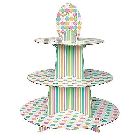 Pastel Baby Shower Cupcake Stand