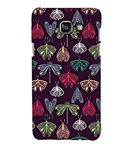 For Samsung On5 (2016) New Edition For 2017 :: Samsung Galaxy On 5 (2017) Helicopter Incect, Black, Butterfly, Amazing Pattern, Printed Designer Back Case Cover By CHAPLOOS