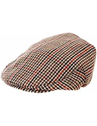 Gentlemans Brown Tweed Flat Cap.