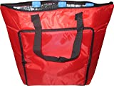 Grosse faltbare Kühltasche /Isoliertasche/Wärmtasche (18 Liter) mit Reißverschluß inkl. Kühlakku (rot)