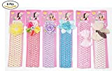 #3: Fameza Baby's Crochet Style Elastic Rubber Hair Ties (Multicolour, HairBand_09) - Set of 6