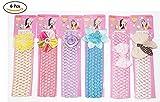 #1: Fameza Baby's Crochet Style Elastic Rubber Hair Ties (Multicolour, HairBand_09) - Set of 6