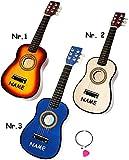 """hochwertige Kinder _ Holz Gitarre - """" Konzertgitarre - Klassik - BLAU """" - incl. Name - akustische - Kindergitarre - mit 6 Stück Ersatzsaiten & Plektrum - 6 Saiten / Seiten - Spielzeuggitarre - Mädchen & Jungen - Konzertgitarren - Musikinstrument - Akustikgitarre - Saiteninstrument / Mädchen & Jungen - Spielzeug - akustisch"""