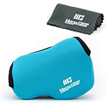 MegaGear ''Ultra Light'' Funda Bolsa Protector Neopreno Cámaras Para Panasonic Lumix DMC‑LX100 (Azul)