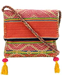 The House Of Tara Boho Chick Crossbody Bag In Handloom Fabric HTCB 047